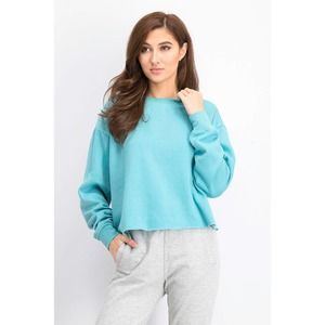 Beverly Jade Raw-Hem Sweatshirt XL